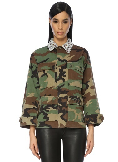 Forte Couture Askeri Ceket Yeşil